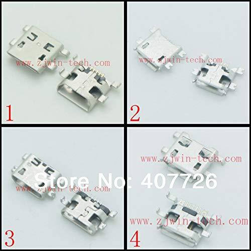 - Gimax 100pcs/lot 4 models Micro USB phone tail connector charging Mini USB jack female socket PCB mounting
