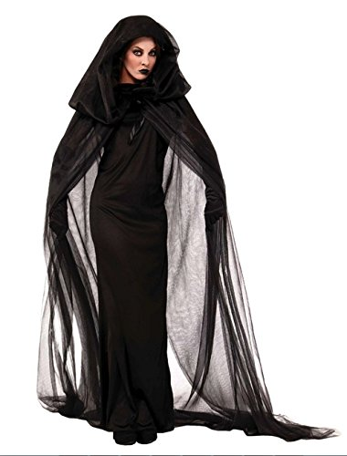 Scary Halloween Witches (Women's Scary Devil Ghost Witch Cosplay Halloween Costume Long Dress Robe)