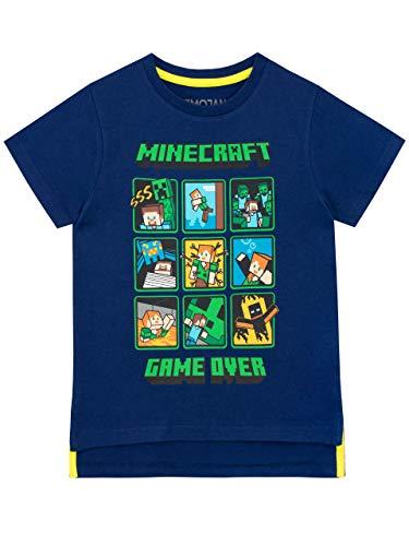 Minecraft T-shirt Creeper and Steve jongens