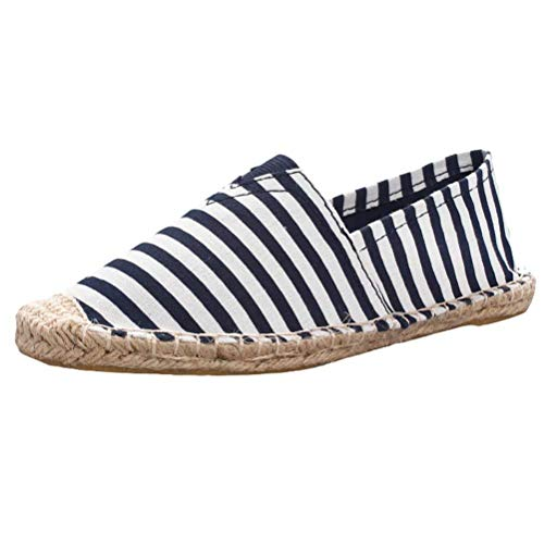 Espadrille Espadrille Espadrille Slip 2 UK UK UK UK Style on in 15 Colore Blue 2 on Shoes Flats Unisex Dimensione Canvas Traspirante ZHRUI Slip Sneakers qYzBYw