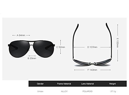 Gafas sol con de Gafas aire sol UV sol de protección tendencia conducción gafas de sol mujer hombre sol gafas C polarizadas libre de Gafas de y RFVBNM de hombre al D Gafas RqaHa7