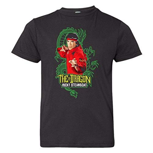 Youth Ricky Steamboat Enter The Dragon HQ Wrestling Tee Shirt Black