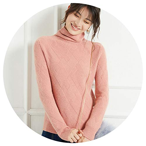 Thick sweaterquality Cashmere Sweater Turtleneck Cross mond Sets fe Winter Warm Pullover,qianpaihong,L