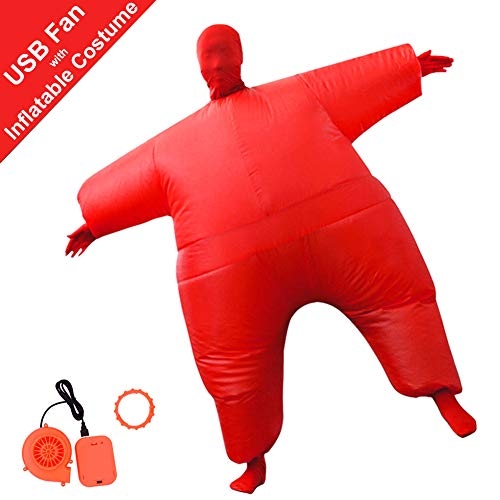HUAYUARTS Inflatable Full Body Suit Christmas Costume Adult Funny Cosplay Cloth Party Toy for Halloween Christmas, Free Size, Red ()