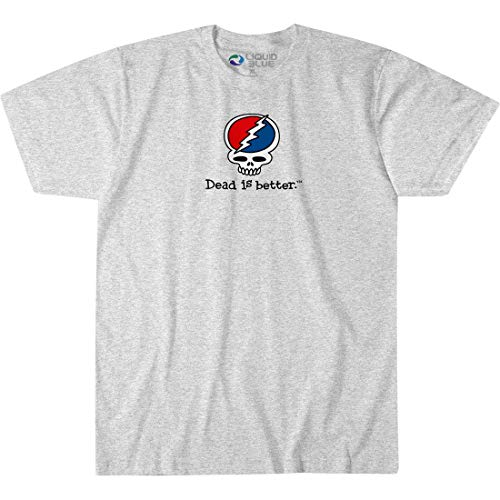 (Liquid Blue Adult's Grateful Dead is Better SYF Short Sleeve Graphic TEE, Heather Grey X-Large )