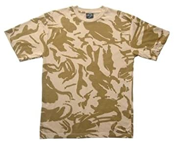 3090b72a Image Unavailable. Image not available for. Colour: Mil-tec British DPM  Desert Camouflage T-Shirt ...