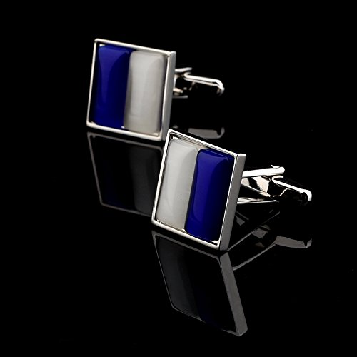 Sapphire Set Cufflinks - Jinli white sapphire cufflinks set with cufflinks male French shirt sleeve button nail sleeve button for DIY Art Sewing Sew Tailor Clothing Craft