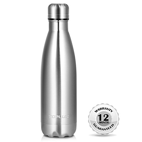 Stainless Water Bottle Collection (Tolpus Vacuum Insulated Stainless Steel Water Bottle, Double-Wall Cola Shape BPA Free Sports Metal Bottle, Sweat&Leak-Proof Travel Water Bottle for Cold & Hot Drinks, Indoor&Outdoor Use-17 Oz (500 ml))