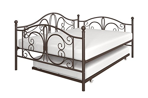 Cheap DHP Bombay Full-Size Metal Daybed Frame with Twin-Size Trundle ...