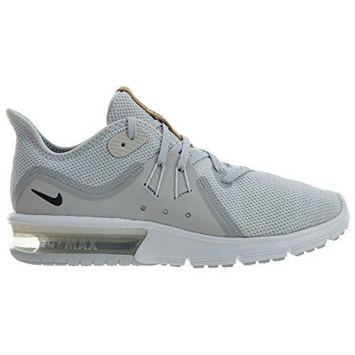 NIKE Womens Air Max Sequent 3 Running Shoe Pure Platinum/Black/White XC1Do3pc
