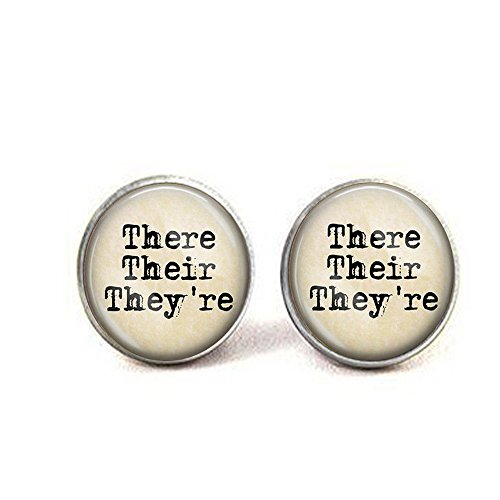 There Their They're Grammar Earrings - English Teacher Gift - Proper English - Grammar Nut - Editor Gift - Writer Earrings