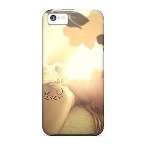Defender Case For Iphone 5c, Love U Forever Pattern