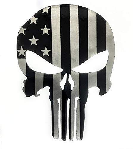 Fox MetalFab Punisher (Subdued American Flag) Trailer Hitch Cover