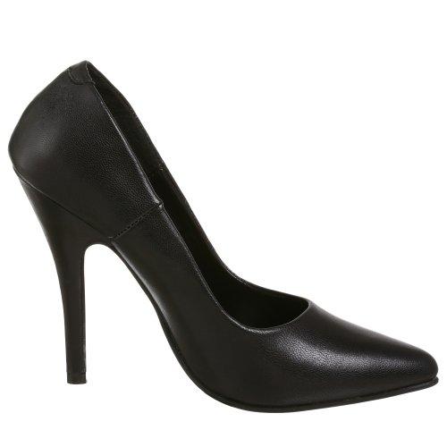 Donna Col Blk 420 Seduce Tacco Scarpe Leather Pleaser w7XxqPB