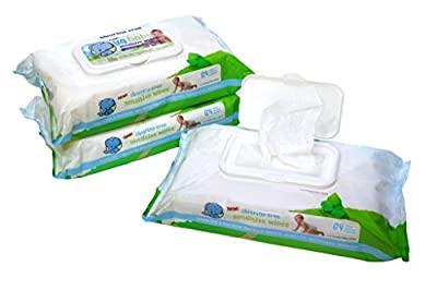 Ya Baby Sensitive Wipes, Face, Hand & Baby Wipes, Fragrance Free, Chemical Free + Shea Butter, Aloe, 192 Count (Pack of 3)