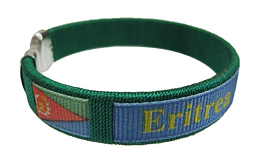 Flag C Bracelets Wristbands - Asia & Africa (1-Pack, Country: Eritrea)