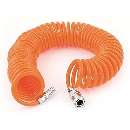 9M poliuretano Conector de Cano rápida Coiled ar pneumático Mangueira 8mmx5mm - - Amazon.com