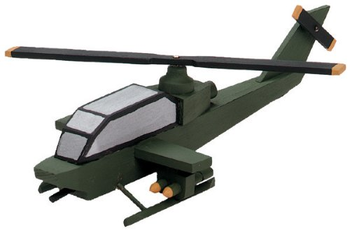 Wood Model Kit - Attack Helicopter 1 pcs SKU# 663883MA