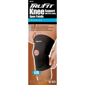 a5b3433333 Amazon.com: Tru-Fit Deluxe Terry Lined Open Patella Knee Brace ...