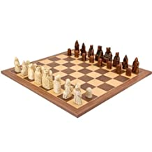 The Isle Of Lewis Walnut and Maple Chess Set by The Regency Chess Company Ltd, England