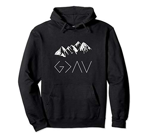 God is Greater Than the Highs and Lows Christian Hoodie