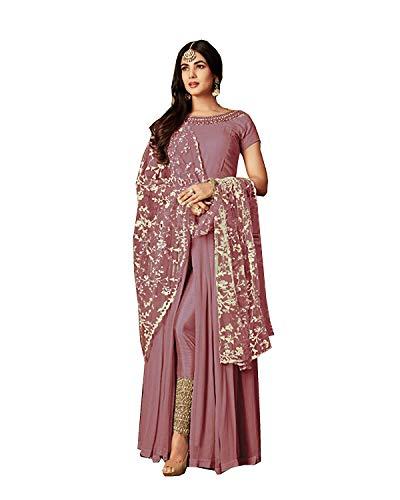 (Bollywood Designer Pakistani/Indian Wedding Partywear Salwar Kameez Indian Dress Ready to Wear Salwar Suit (Pink, XL-44))