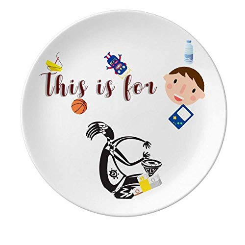 (Tambourine Mexican Dance Celebrate Mexico Son Gift Dessert Plate Decorative Porcelain 8 inch Dinner)
