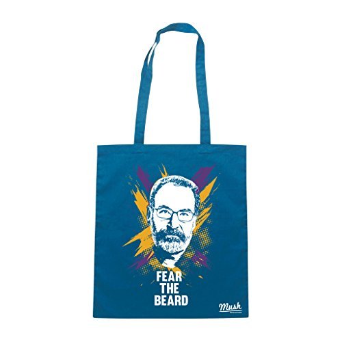 Borsa SAUL HOMELAND VERSIONE NBA FEAR THE BEARD - Blu Royal - FILM by Mush Dress Your Style