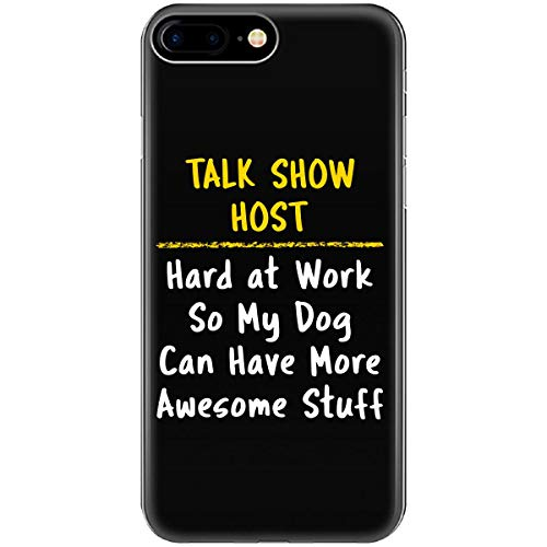 Talk Show Host Hard at Work Dog Lover Funny Saying Job Gift - Phone Case Fits iPhone 6 6s 7 8