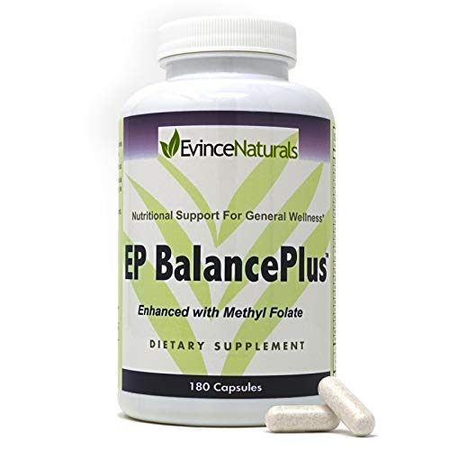 (  Evince Naturals EP Balance Plus - Multivitamin Boost Mood Enhancement, Brain Support Supplement Improve Memory Focus and Brain Function with Vital Nutrients Minimal and Essential; 180 Capsules)