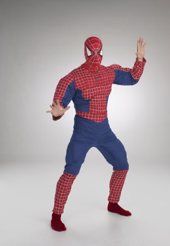 Spiderman Deluxe Costume Muscle Chest (Spiderman Deluxe Costumes Muscle Chest Adult)
