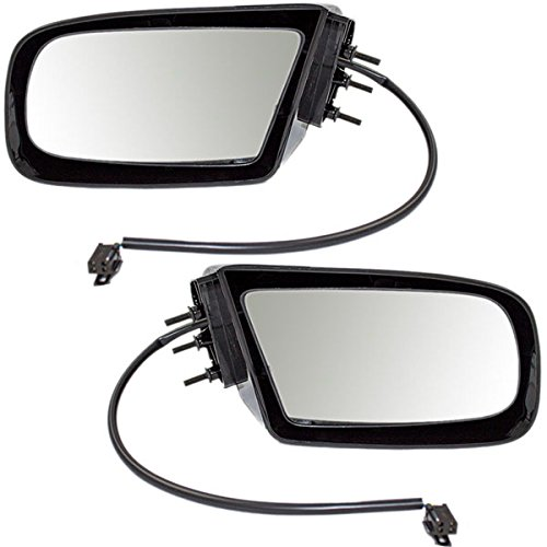 (90-96 Regal Power Black Non-Folding Rear View Mirror Right & Left Side PAIR)
