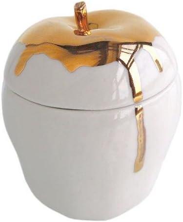 Michiko Shimada Apple Trinket Box | Gold/White