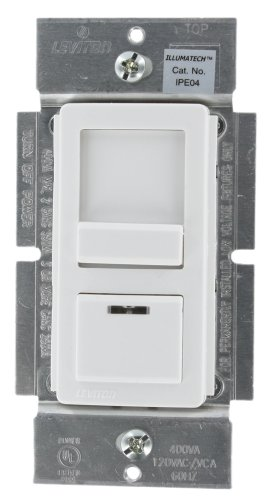 Leviton IPE04-1LZ IllumaTech 400VA 300W Preset Electronic Low-Voltage Slide Dimmer, Single Pole and 3-Way, White/Ivory/Light Almond