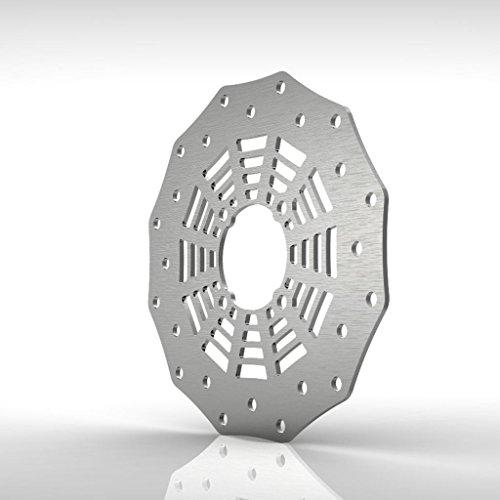 Spiderweb Rear Brake Disc Rotor Stainless fits: 90-06 Yamaha Banshee YFZ350 - Ferreus Industries - ()