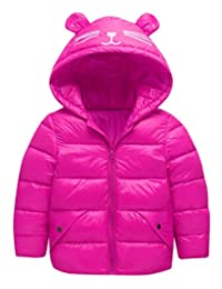 Xingny Winter Coat Soft Thick Warm Cute Jacket Hooded Snowsuit Outwear for Kids Baby Girl