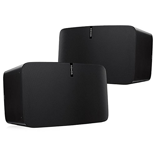 Sonos PLAY:5 Multi-Room Digital Music System Bundle (2 - PLAY:5 Speakers) - Black by Sonos