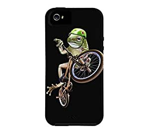 FROG BMX (COLOR VERSION) iPhone 5/5s Black Tough Phone Case - Design By Humans wangjiang maoyi
