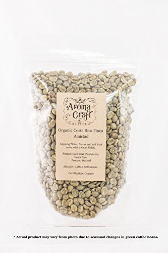 Aroma Craft Coffee: ORGANIC Costa Rica Finca Amistad Unroasted Green Coffee Beans (1 LB)