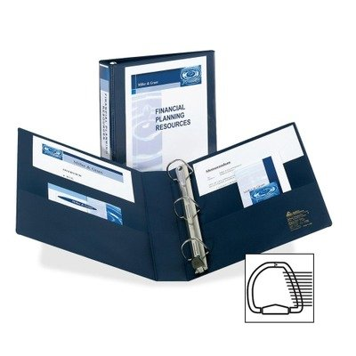 Avery Nonstick Heavy-Duty EZD Reference View Binder, 1-1/2in Capacity, Navy Blue