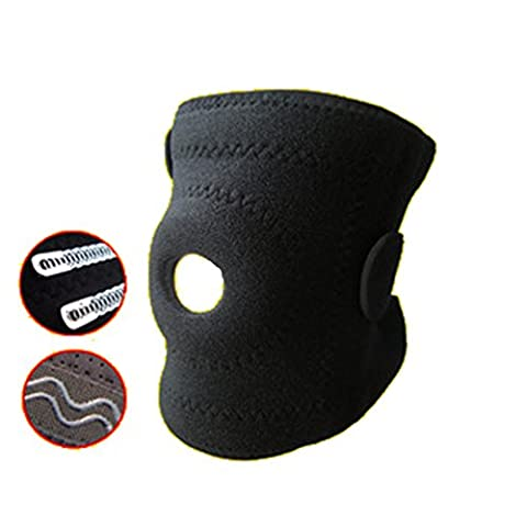 Adjustable Breathable Hinged Neoprene Knee Brace Support - Open Patella High Compression Knee Stabilizer With 4 Flexible Magnet Springs –Stabilizer With 2 Ways Velcro Elastic Straps –Black 1 (Walmart Beactive Brace)