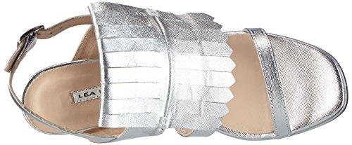 LEA FOSCATI Montecarlo - Sandalias de tobillo Mujer Plateado - Silber (ARGENTO+ARGENTO)