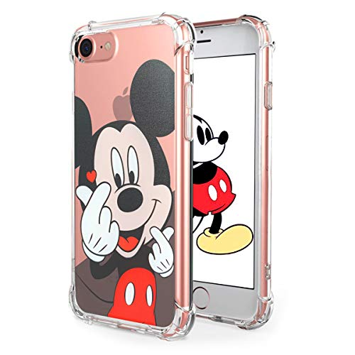 Logee TPU Mickey Mouse Cute Cartoon Clear Case for iPhone 6/6S 4.7