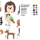 Personalized boy & girl Woodland animals PILLOWCASE with pillow, Size 12''x 16'', throw pillow, travel, bed, stroller, Toddlers. Kids, daycare nap. fox, bear, owl, Bird, Deer, Bunny, Hedgehog, raccoon
