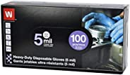 Wipeco Nitrile Heavy Duty Gloves 5 mil, Latex Free, Powder Free (Pack of 100)