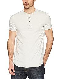 Men's Short Sleeve Stripe Henley Arid Warms
