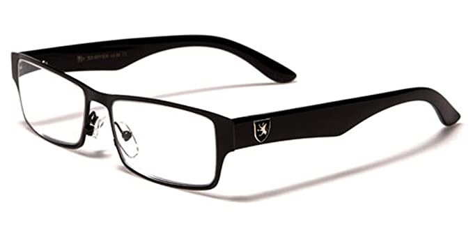 1e91bc80f87 New Khan Designer Metal Men Women Rectangle Readers Reading Clear Glasses  Free BeachHutSunglasses microfibre pouch included (+3.00 Dioptre black silver  ...