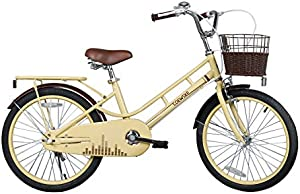 COEWSKE 20 Inch Kids Bike Fantasy-Style Children Leisure Bicycle with Basket Kickstand Included Fit for 6-10 Years Old Or 49-60 Inch Kids 3 Color