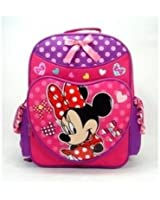 Backpack - Disney - Minnie Mouse - Pink Polka Lucky Bag (Large School Bag)