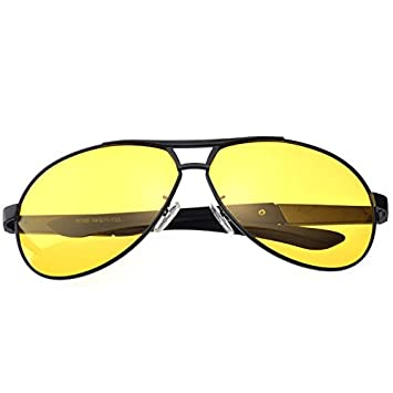d747ccd905 TIANLIANG04 Lente amarilla conducción gafas de visión nocturna por el  hombre gafas polarizadas gafas estilo piloto